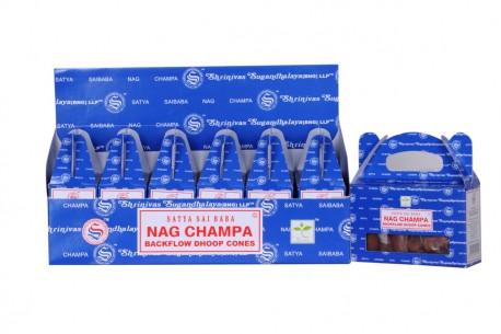 SATYA Rückflusskegel Nag Champa dezent duftende Räucherkegel für den Rückflussbrunnen-
